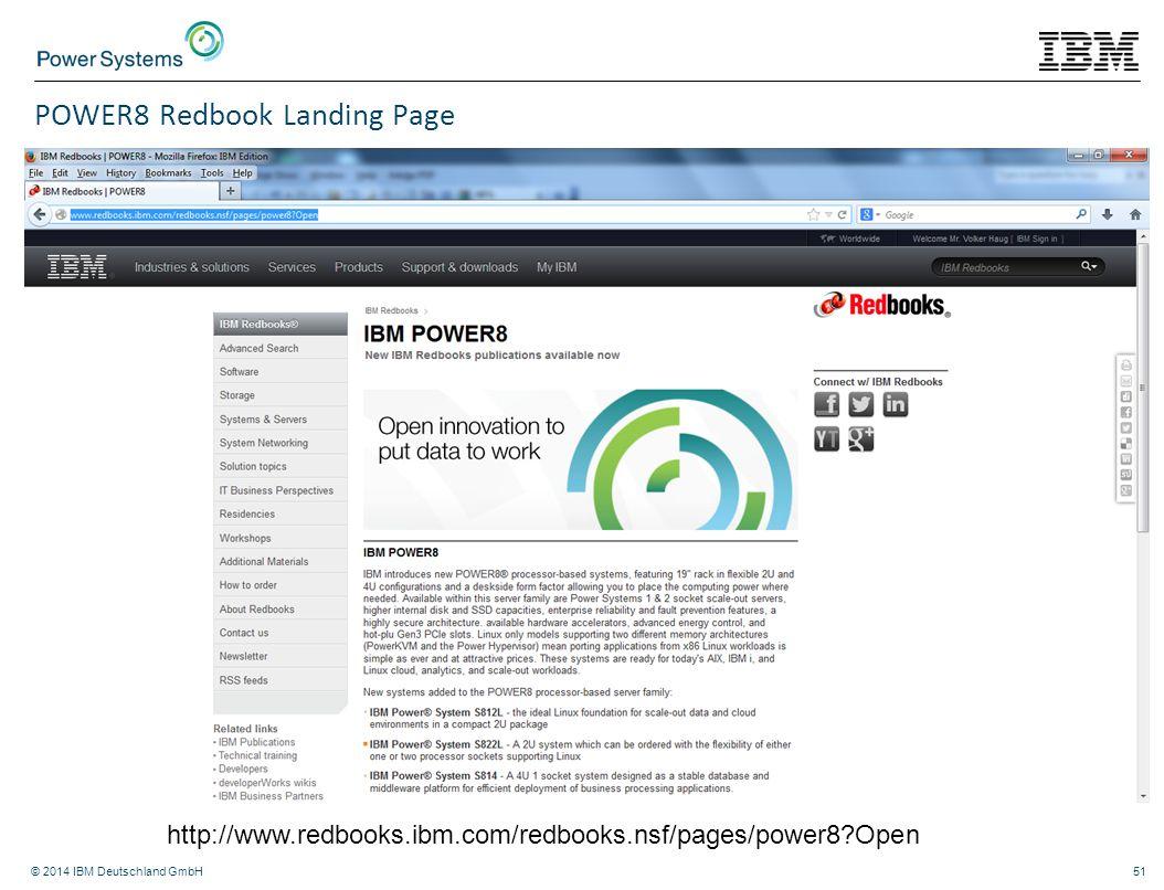 POWER8 Redbook Landing Page