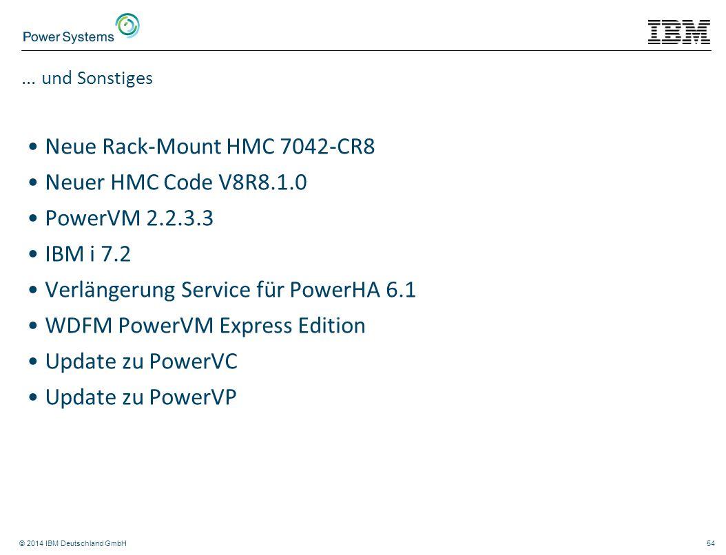 Neue Rack-Mount HMC 7042-CR8 Neuer HMC Code V8R8.1.0 PowerVM 2.2.3.3