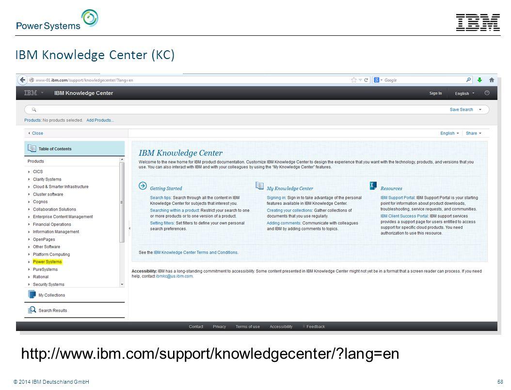 IBM Knowledge Center (KC)