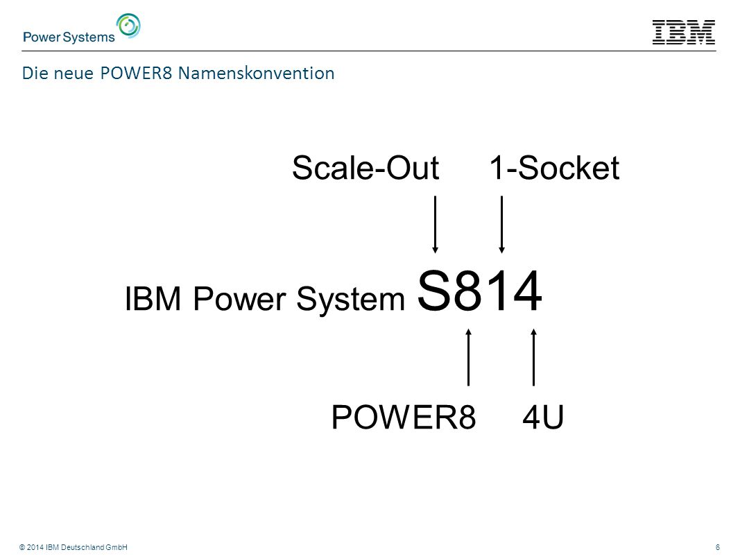 Scale-Out 1-Socket IBM Power System S814 POWER8 4U