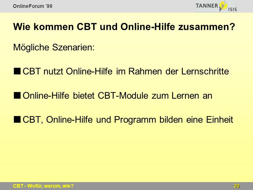 Wie kommen CBT und Online-Hilfe zusammen