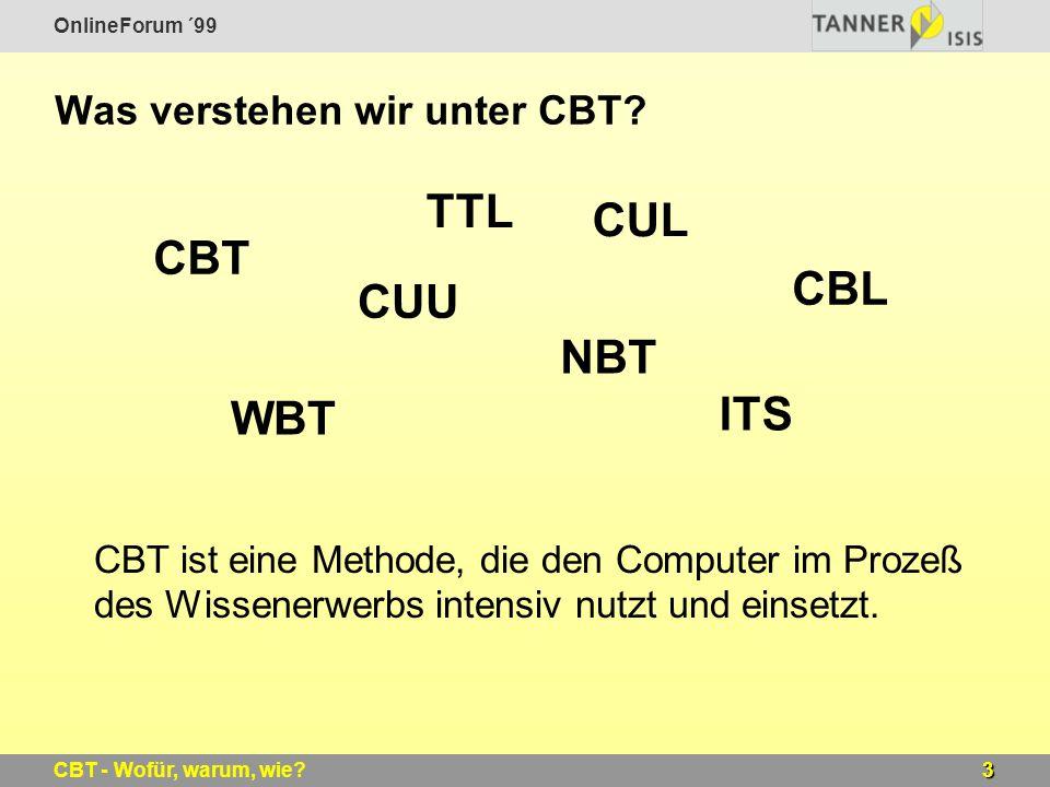 Was verstehen wir unter CBT