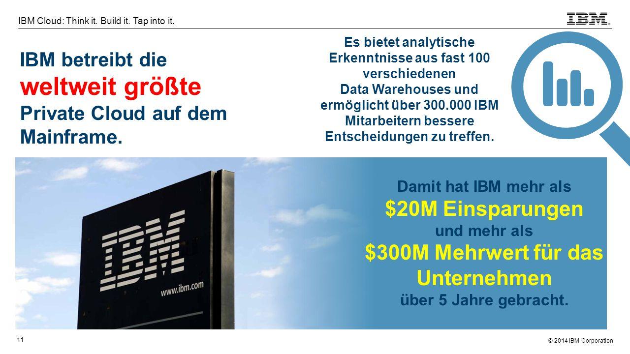 IBM betreibt die weltweit größte Private Cloud auf dem Mainframe.