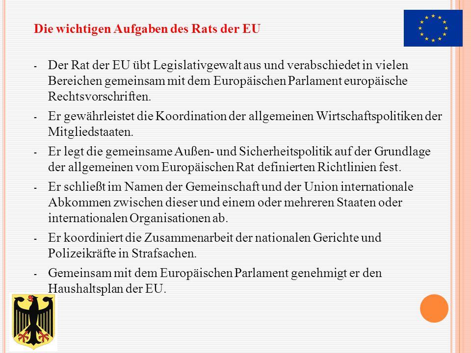 Die wichtigen Aufgaben des Rats der EU