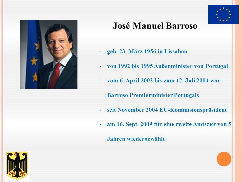 José Manuel Barroso geb. 23. März 1956 in Lissabon