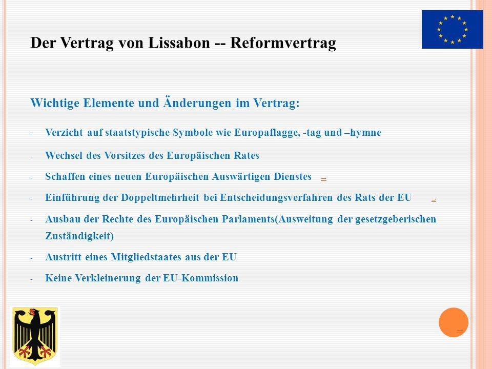Der Vertrag von Lissabon -- Reformvertrag
