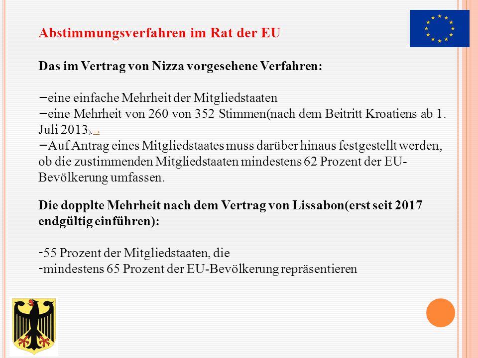 Abstimmungsverfahren im Rat der EU