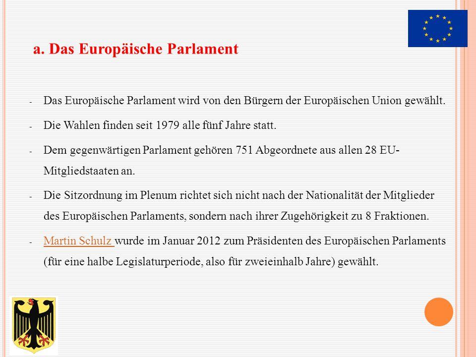 a. Das Europäische Parlament