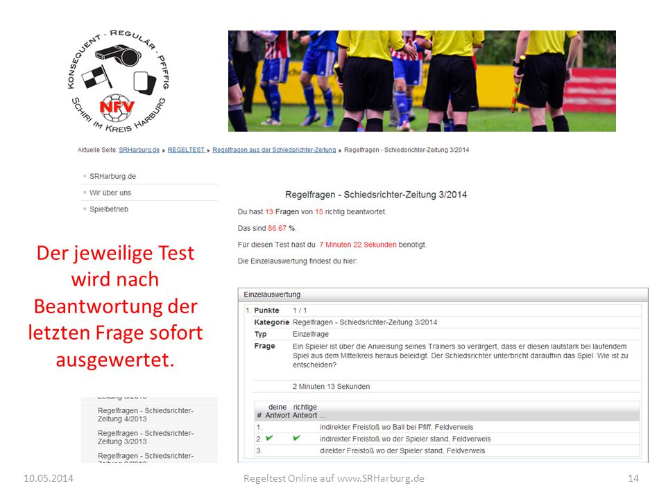 Regeltest Online auf www.SRHarburg.de
