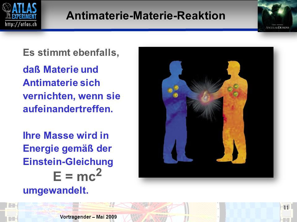Antimaterie-Materie-Reaktion