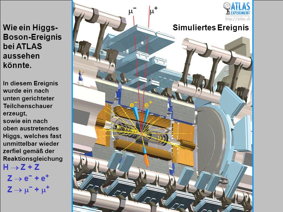 Wie ein Higgs-Boson-Ereignis bei ATLAS aussehen könnte.
