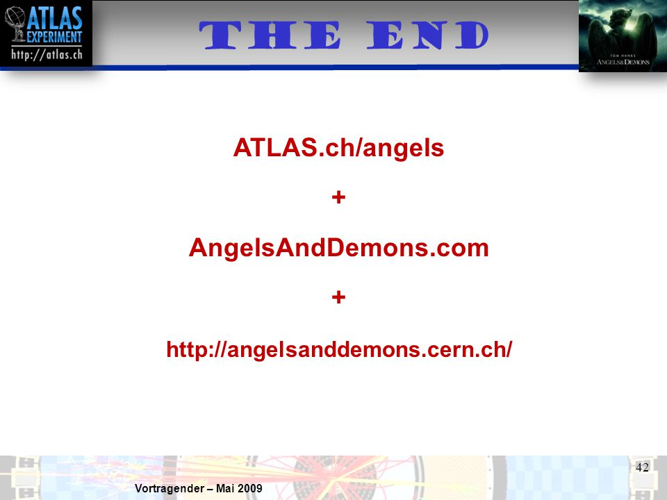 THE END ATLAS.ch/angels + AngelsAndDemons.com
