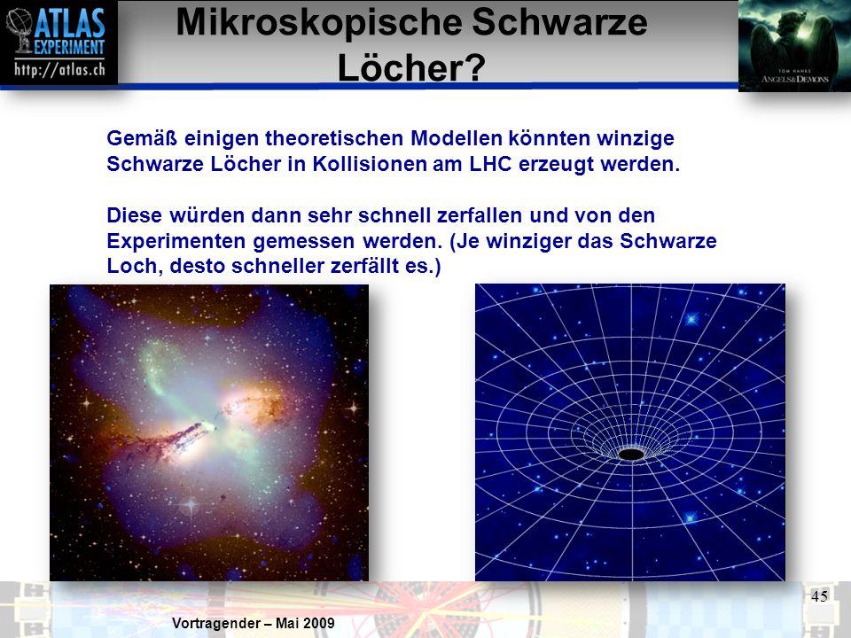 Mikroskopische Schwarze Löcher