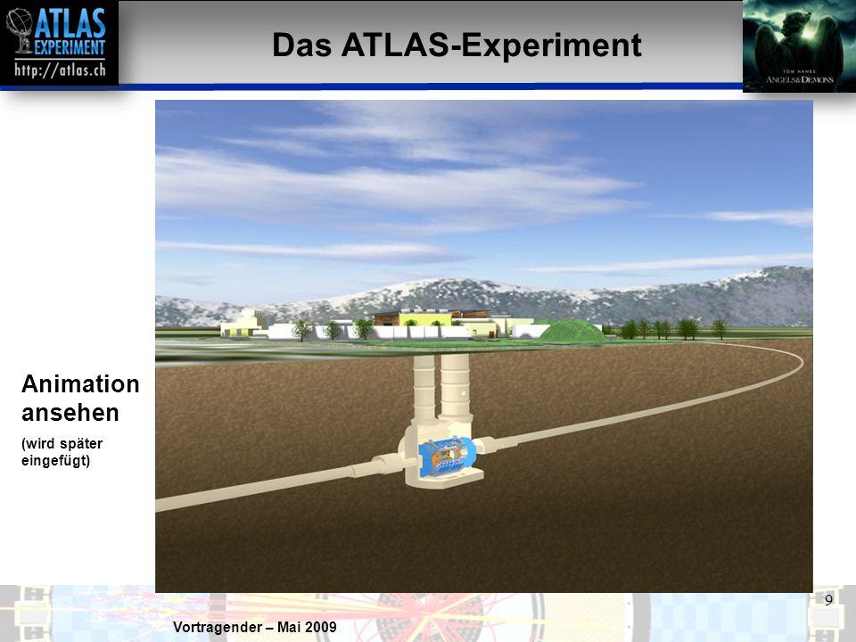 Das ATLAS-Experiment Animation ansehen (wird später eingefügt)