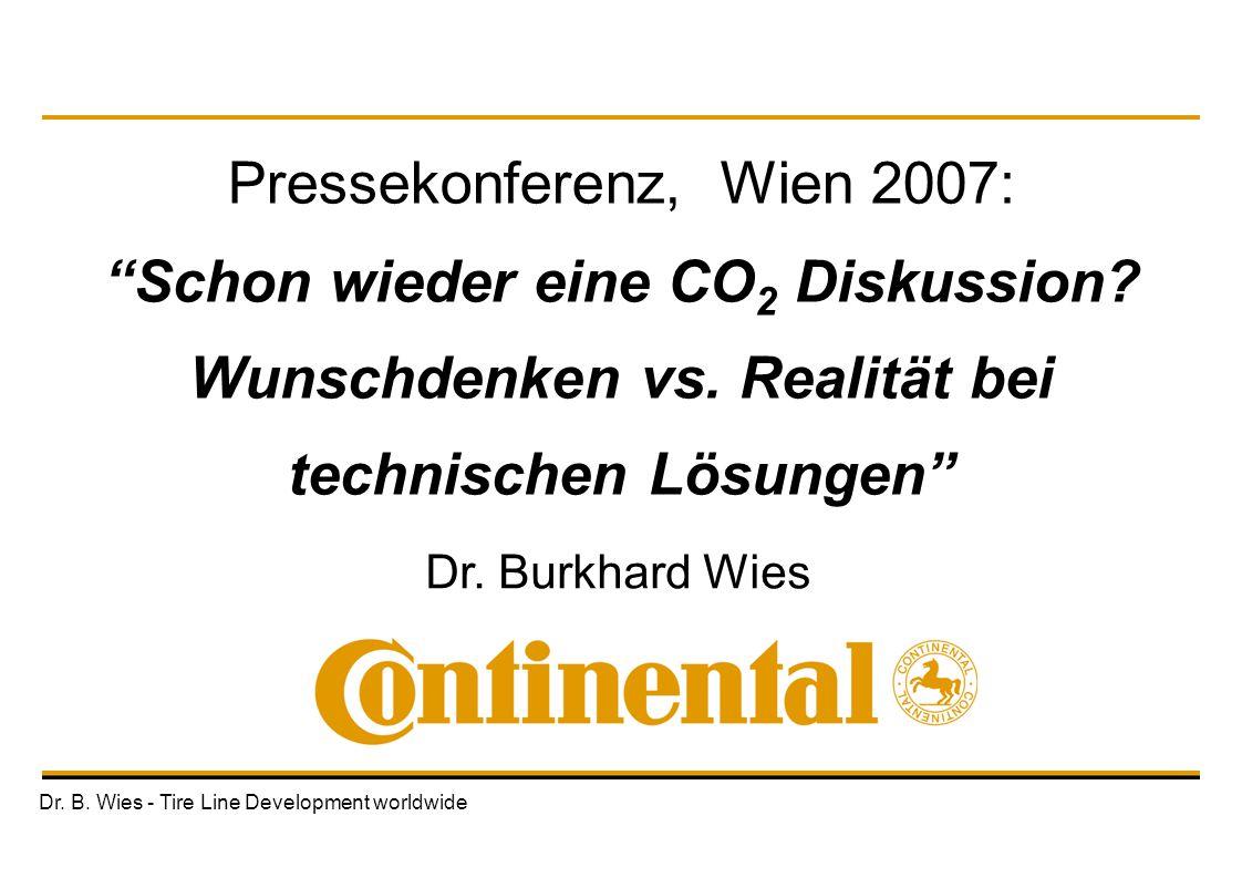 Pressekonferenz, Wien 2007: Schon wieder eine CO2 Diskussion