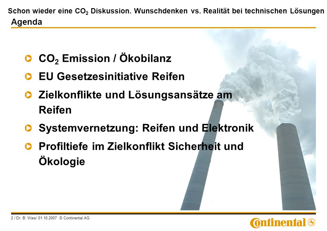 CO2 Emission / Ökobilanz EU Gesetzesinitiative Reifen