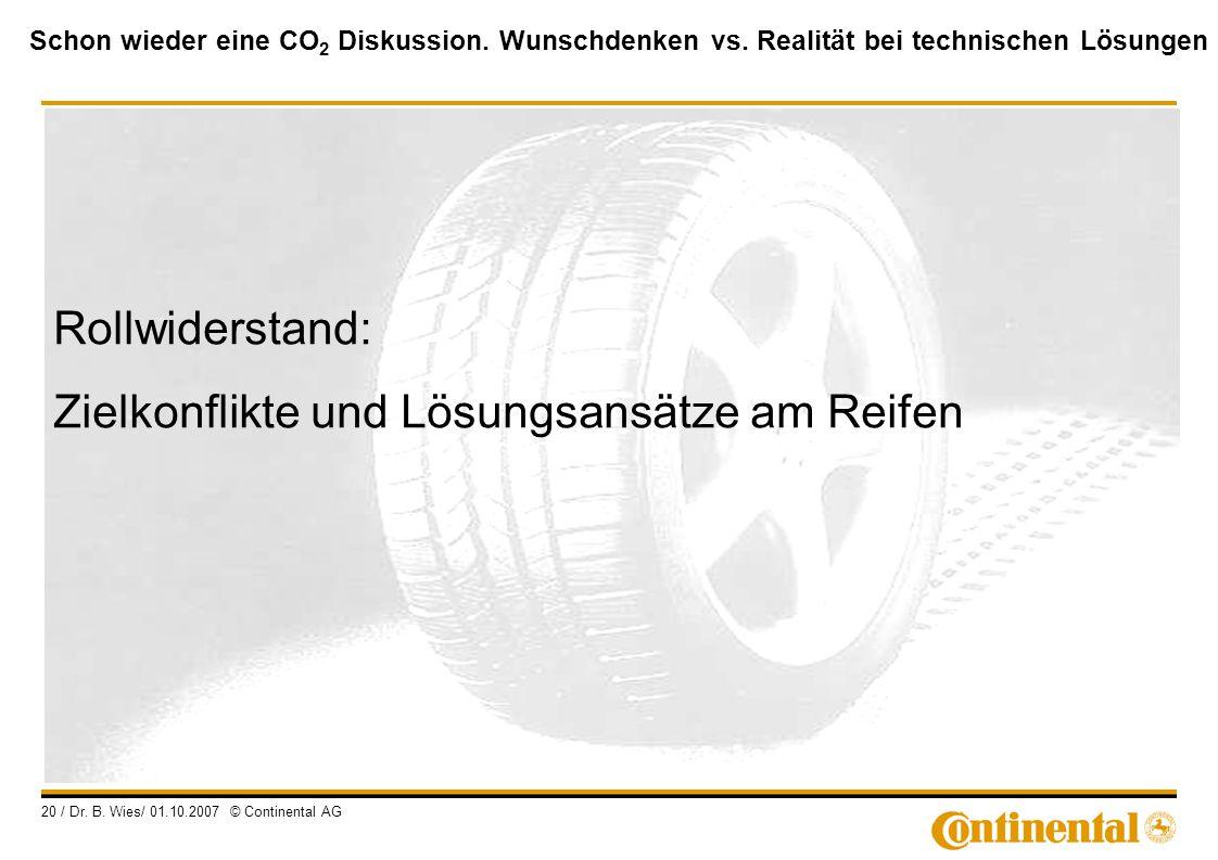 Rollwiderstand: Zielkonflikte und Lösungsansätze am Reifen