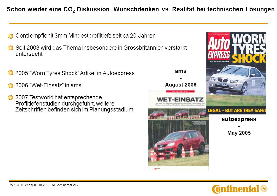 2005 Worn Tyres Shock Artikel in Autoexpress
