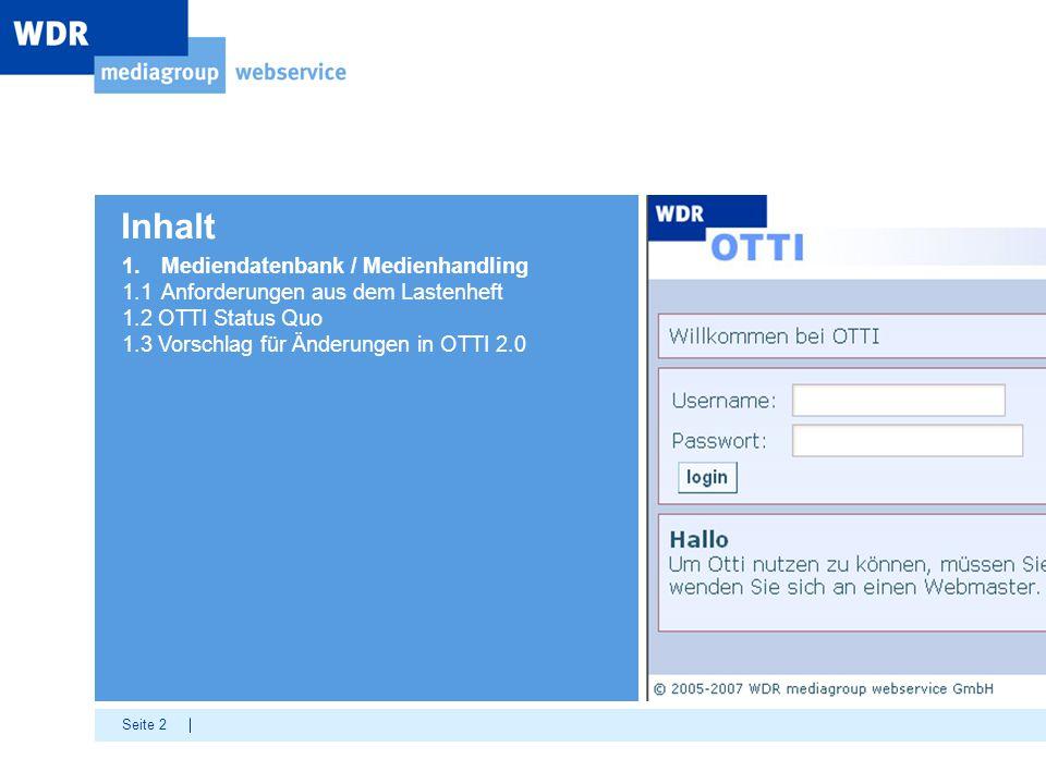Inhalt 1. Mediendatenbank / Medienhandling