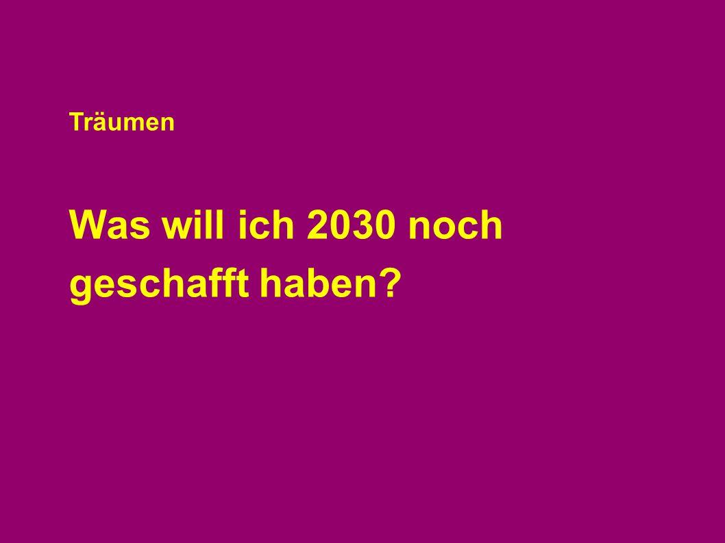 Was will ich 2030 noch geschafft haben