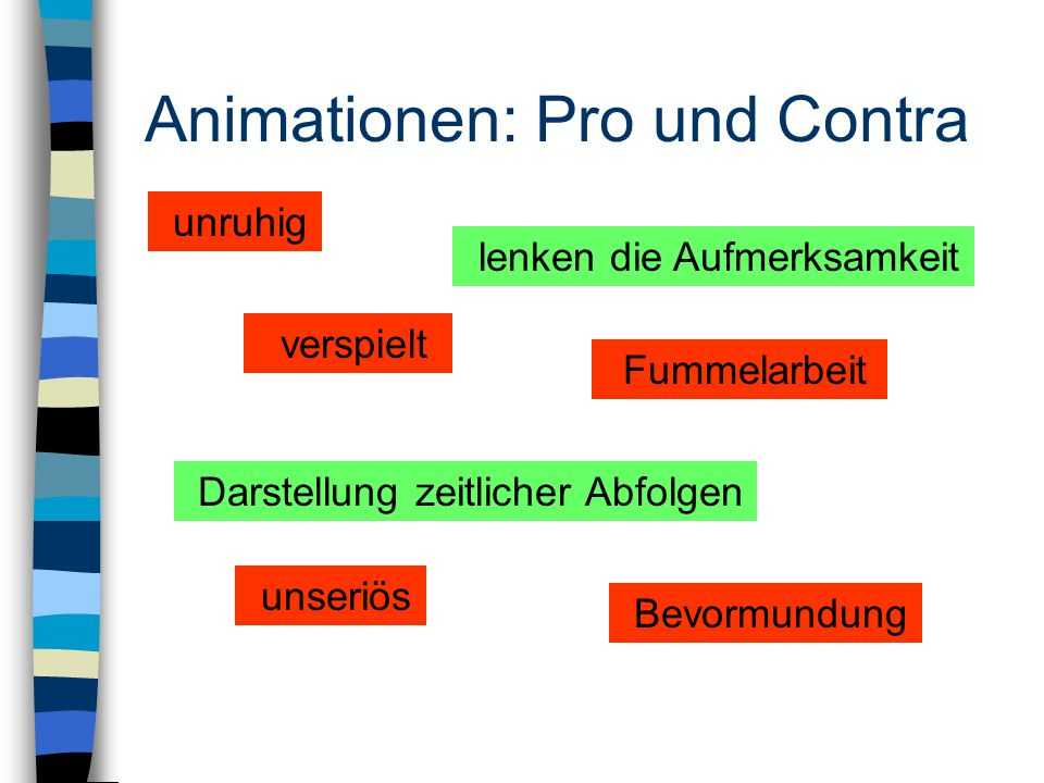 Animationen: Pro und Contra