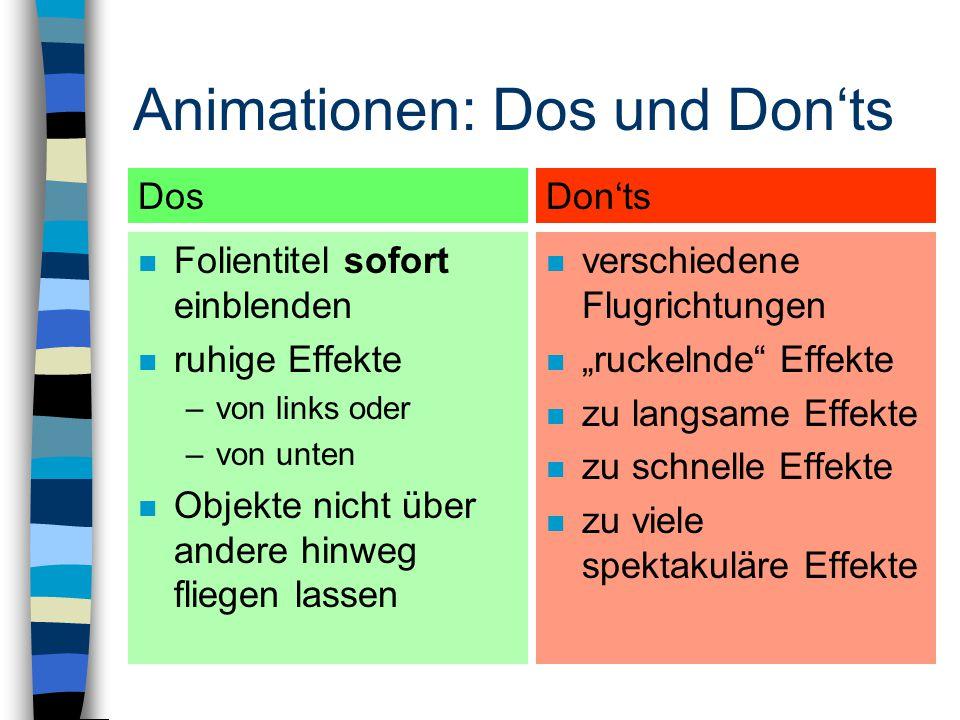 Animationen: Dos und Don'ts