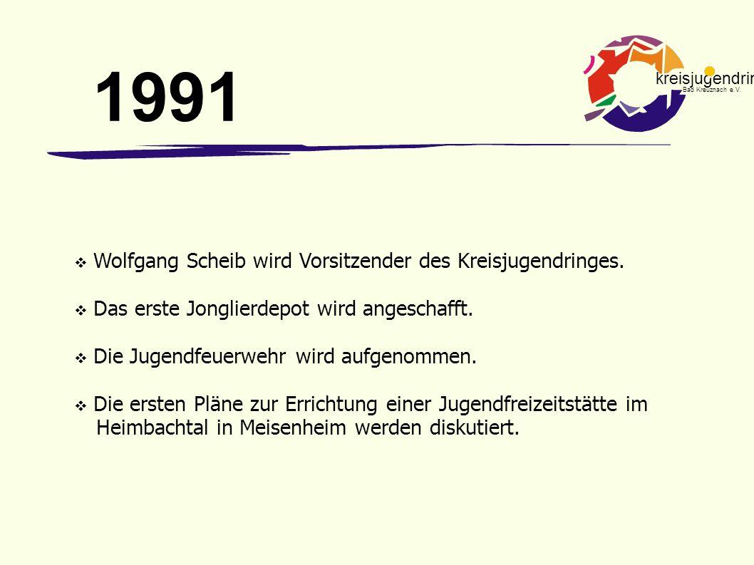 1991 Wolfgang Scheib wird Vorsitzender des Kreisjugendringes.