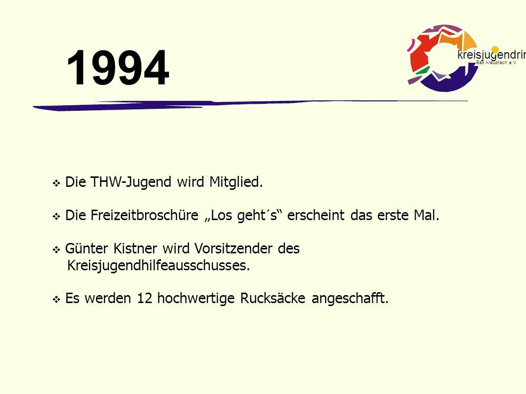 1994 Die THW-Jugend wird Mitglied.