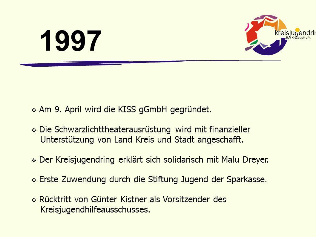 1997 Am 9. April wird die KISS gGmbH gegründet.