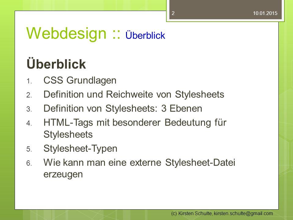Webdesign :: Überblick