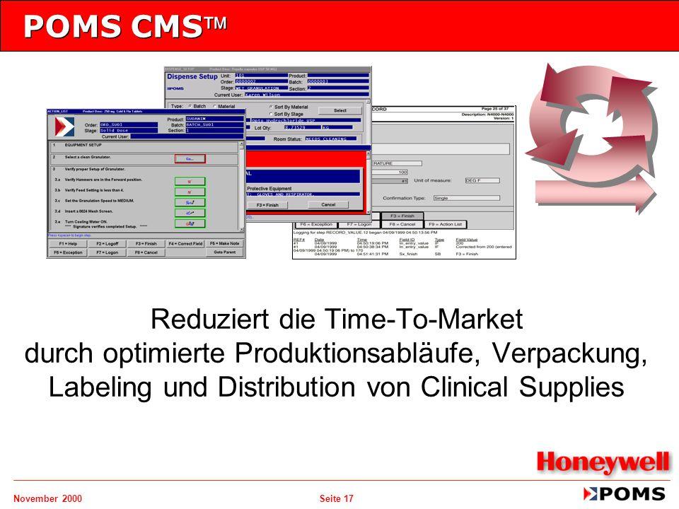 POMS CMS Reduziert die Time-To-Market durch optimierte Produktionsabläufe, Verpackung, Labeling und Distribution von Clinical Supplies.