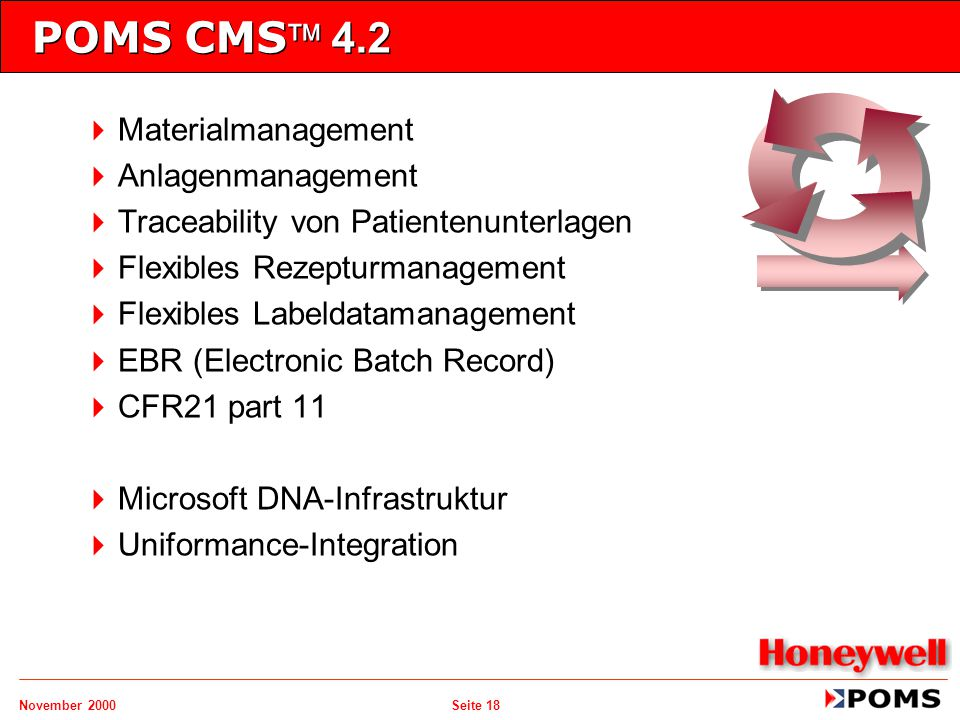 POMS CMS 4.2 Materialmanagement Anlagenmanagement