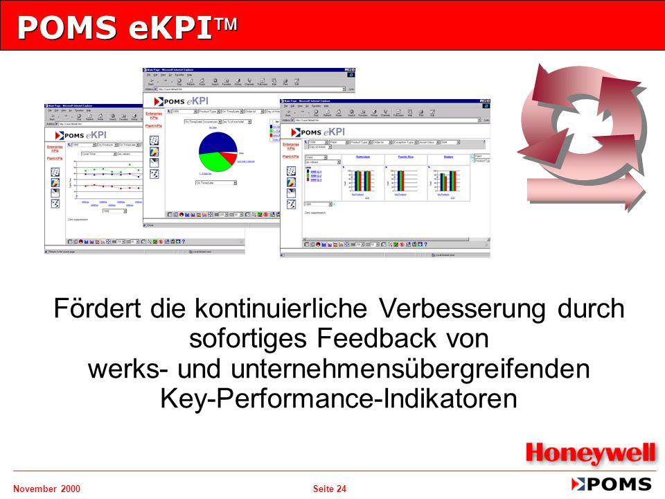POMS eKPI Fördert die kontinuierliche Verbesserung durch sofortiges Feedback von werks- und unternehmensübergreifenden Key-Performance-Indikatoren.