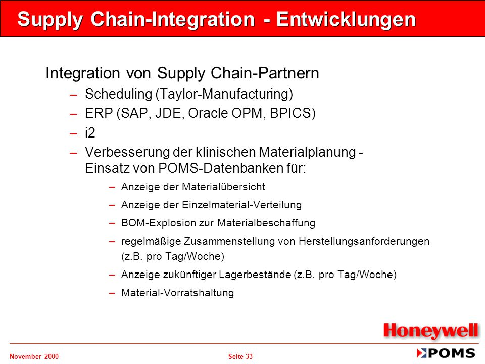 Supply Chain-Integration - Entwicklungen