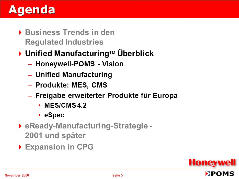Agenda Business Trends in den Regulated Industries