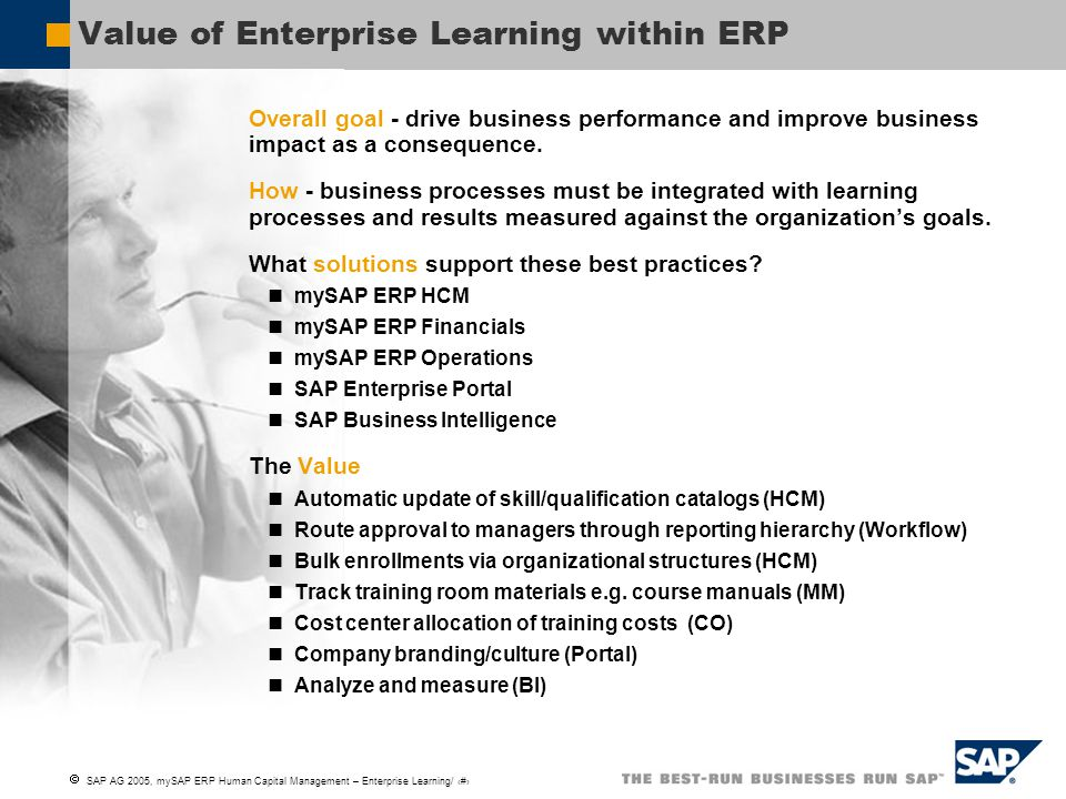 Value of Enterprise Learning within ERP