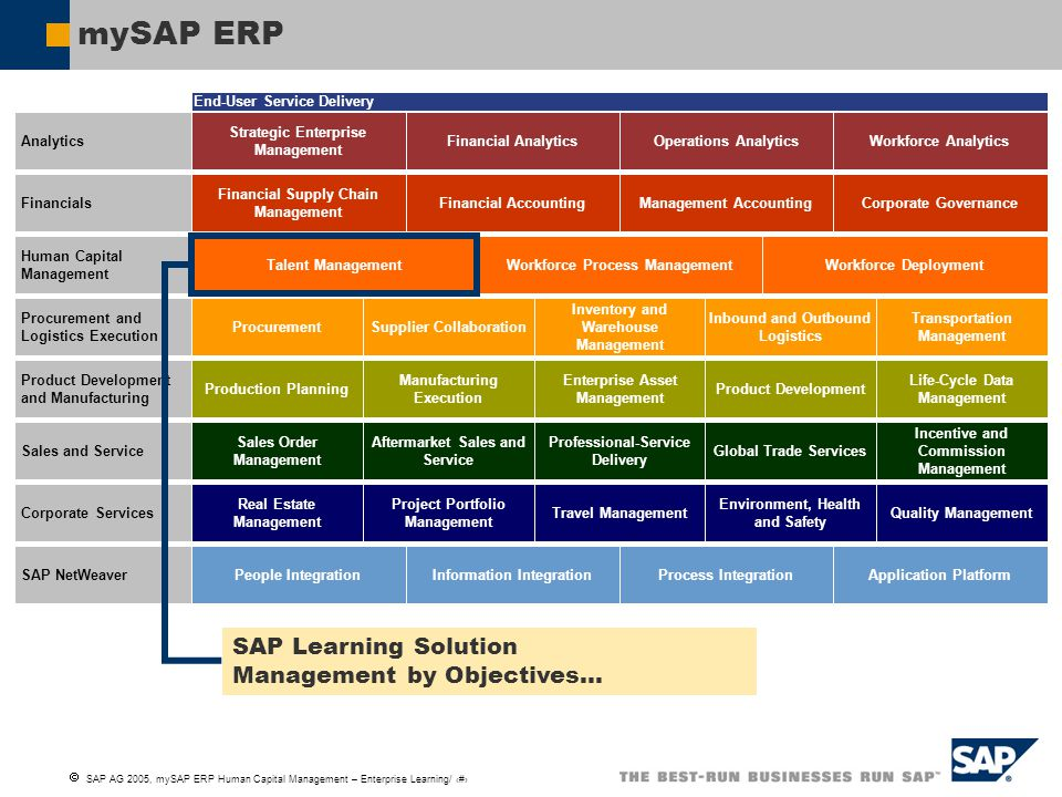 mySAP ERP SAP Learning Solution Management by Objectives…