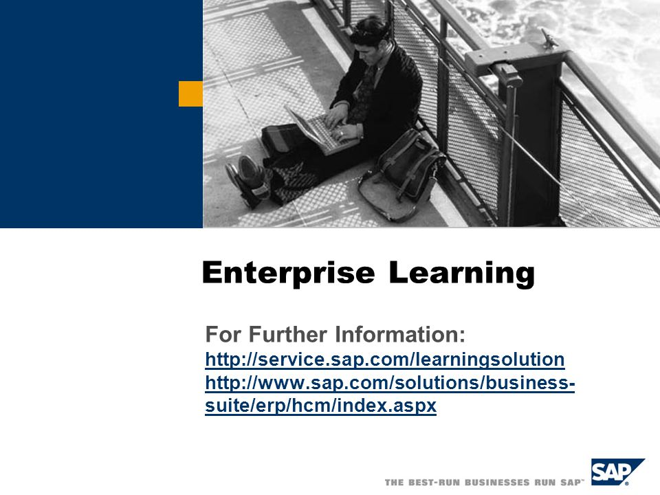 Enterprise Learning For Further Information: