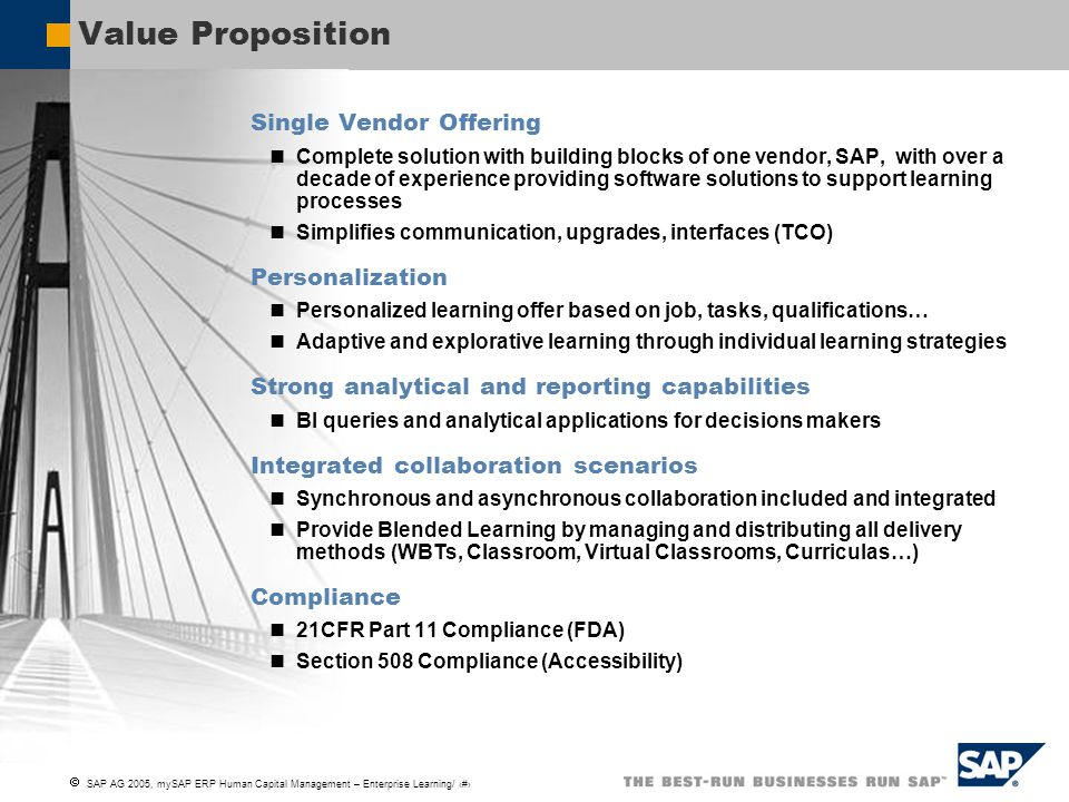 Value Proposition Single Vendor Offering Personalization