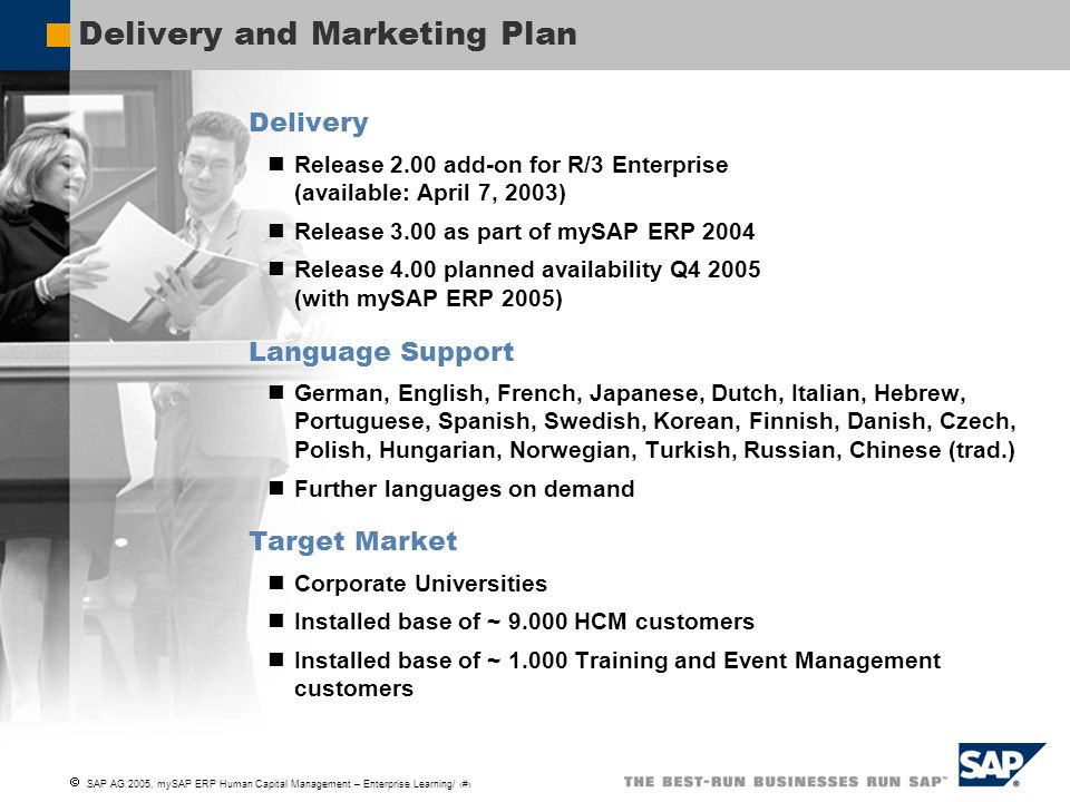 Delivery and Marketing Plan