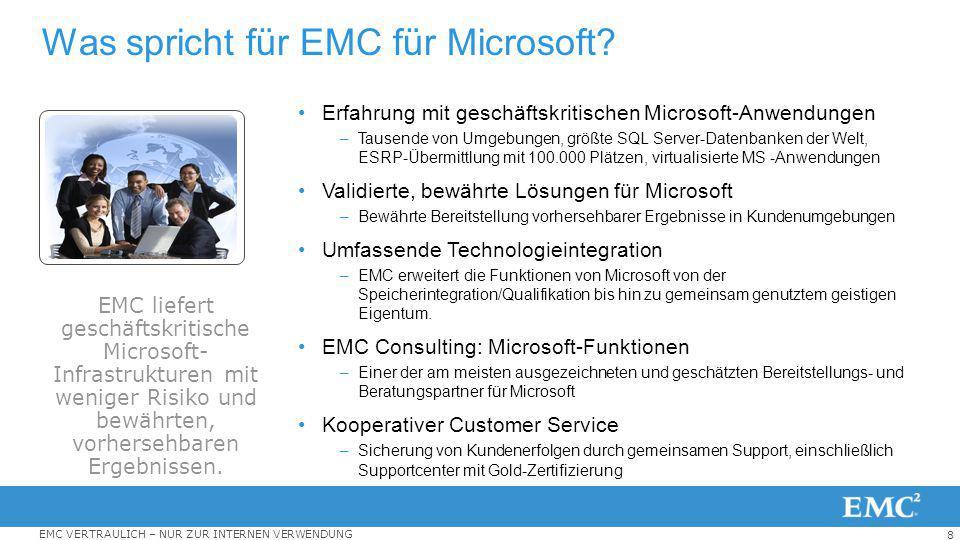 Was spricht für EMC für Microsoft