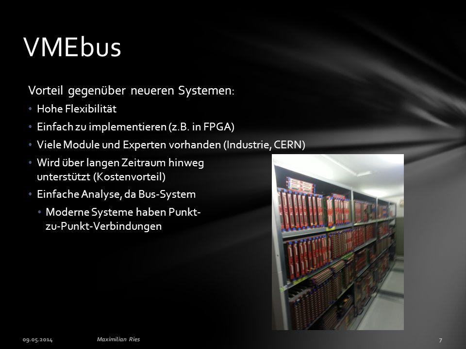 VMEbus Vorteil gegenüber neueren Systemen: Hohe Flexibilität