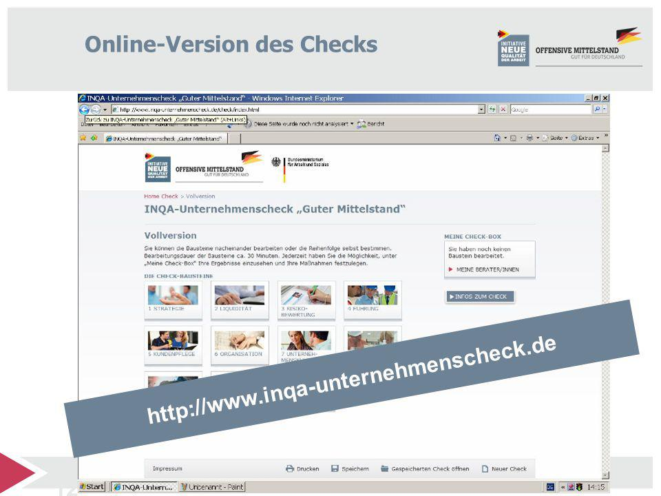 Online-Version des Checks