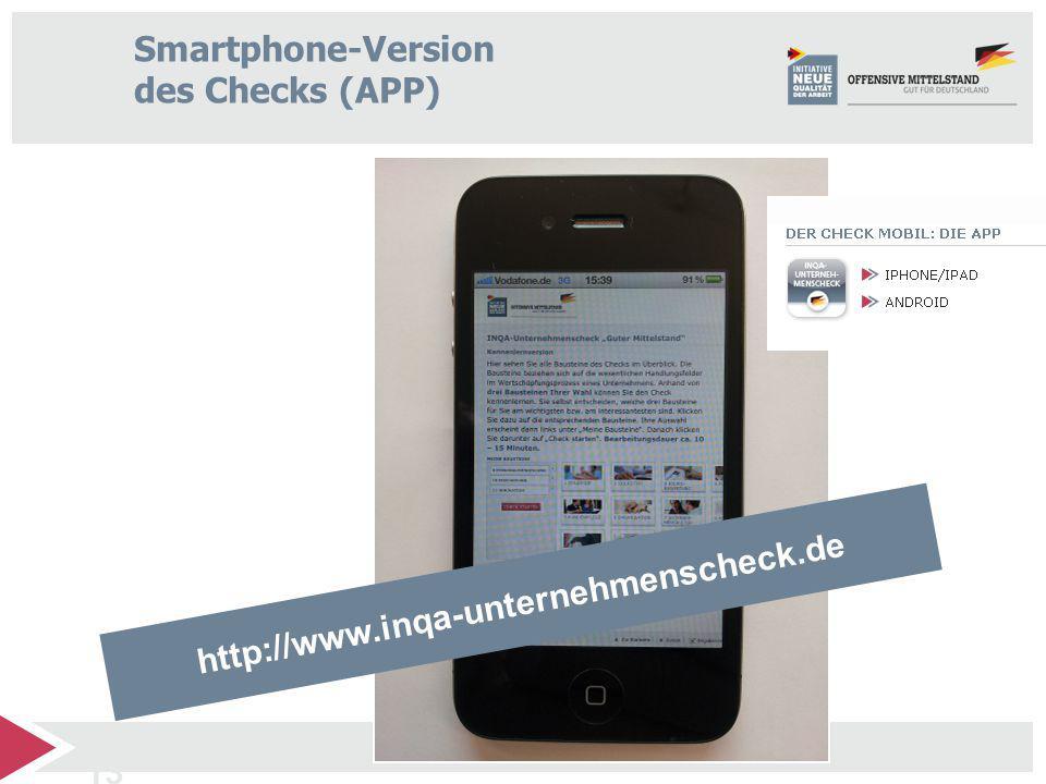 Smartphone-Version des Checks (APP)