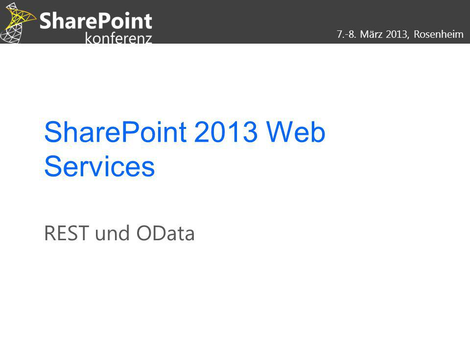 SharePoint 2013 Web Services