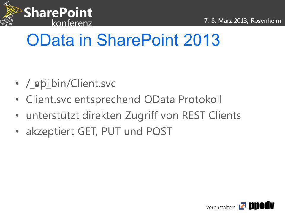 OData in SharePoint 2013 /_api /_vti_bin/Client.svc