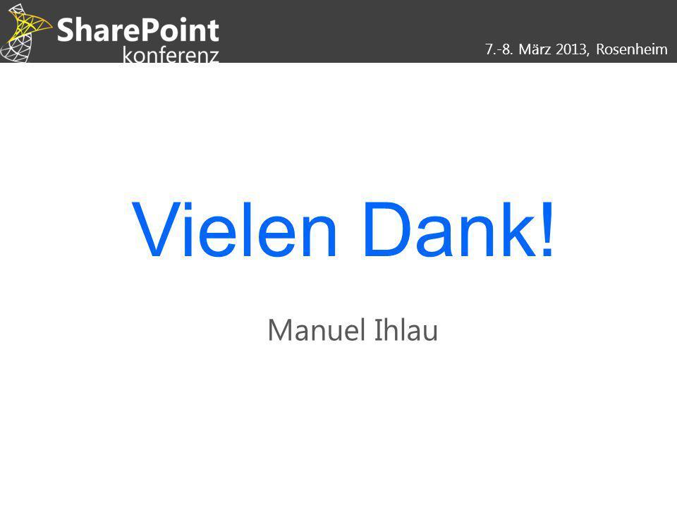 Vielen Dank! Manuel Ihlau