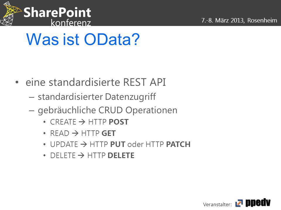 Was ist OData eine standardisierte REST API