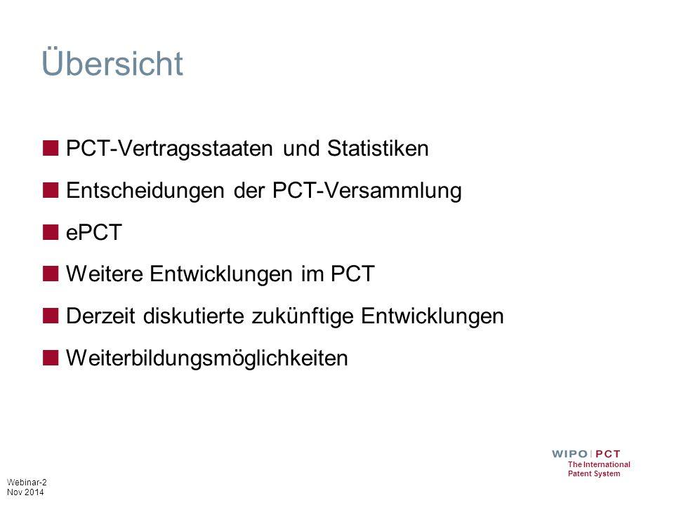 Übersicht PCT-Vertragsstaaten und Statistiken