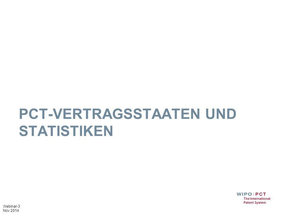 PCT-Vertragsstaaten und Statistiken